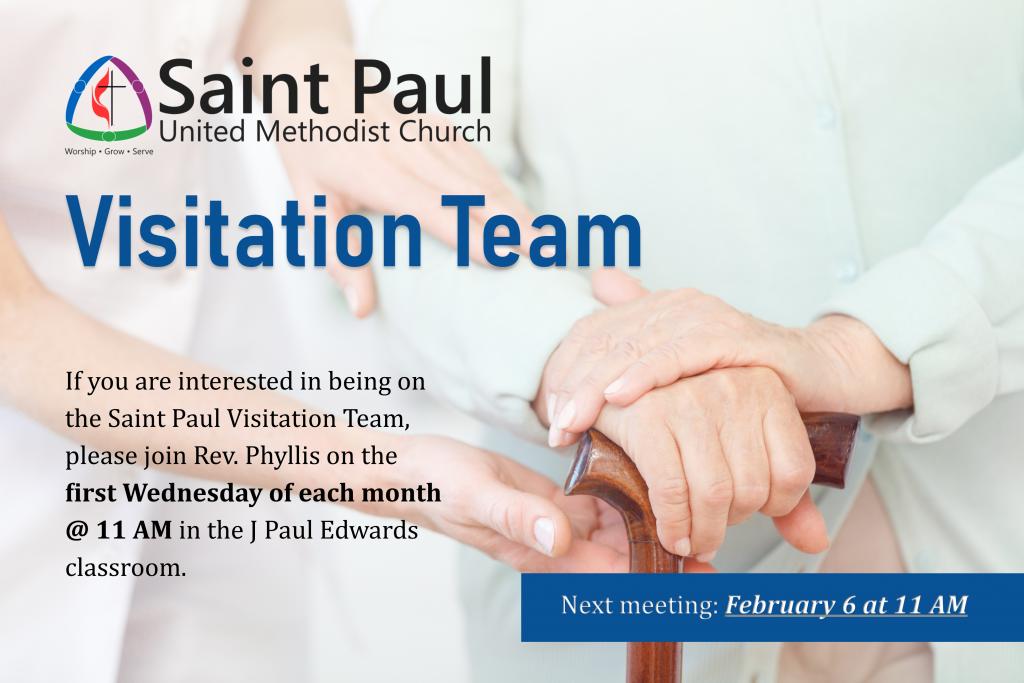 Visitation Team | Saint Paul United Methodist Church